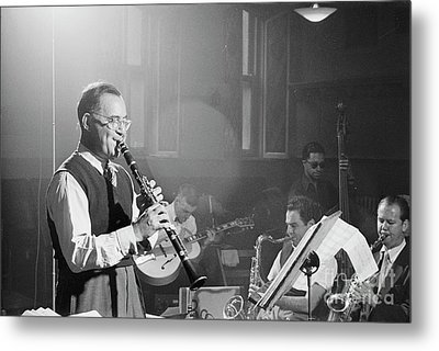 Benny Goodman Orchestra  Metal Print by The Harrington Collection