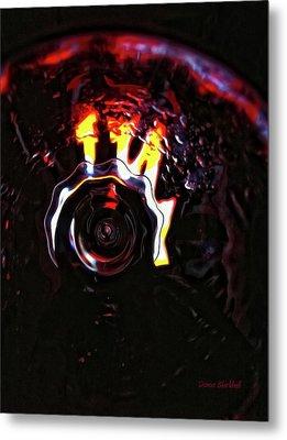 Bent Light Metal Print by Donna Blackhall