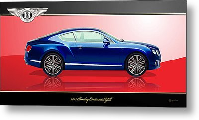 Bentley Continental Gt With 3d Badge Metal Print by Serge Averbukh