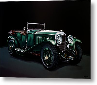 Bentley Open Tourer 1929 Painting Metal Print by Paul Meijering