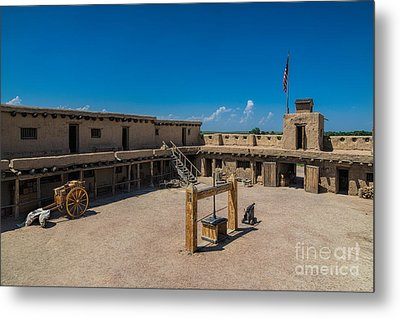 Bent's Fort Courtyard Metal Print