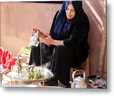Metal Print featuring the photograph Berber Woman by Andrew Fare