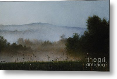 Berkshire Morning Mist Metal Print by Larry Preston