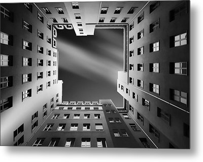 Berlin Backyards Metal Print by Carsten Velten