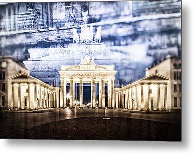 Berlin Brandenburg Gate In Detail Metal Print by Melanie Viola