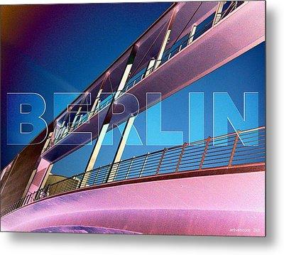 Berlin Bridge At The Reichstagsufer Metal Print by Lars Van Core