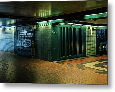 Berlin Underground Station Metal Print