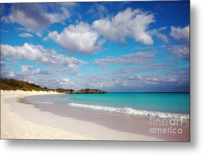 Bermuda Beach Metal Print by Charline Xia