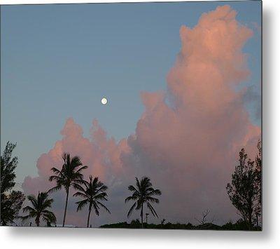 Bermuda Morning Moon Metal Print