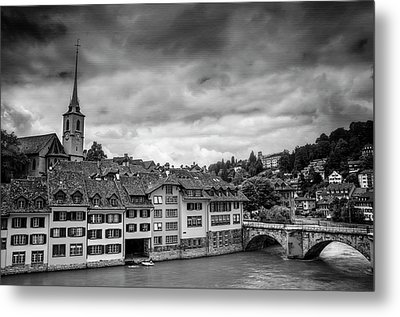 Bern Switzerland In Black And White  Metal Print