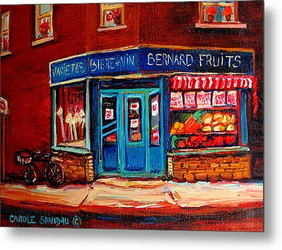Bernard Fruit And Broomstore Metal Print by Carole Spandau