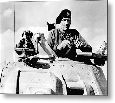 Bernard Law Montgomery Metal Print by War Is Hell Store