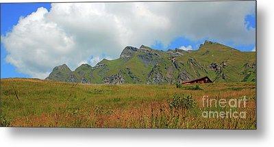 Bernese Alps Switzerland Mountain Landscape Metal Print