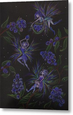 Berry Blues Metal Print