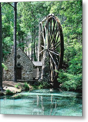 Berry' Old Mill In Pencil Metal Print by Johann Todesengel