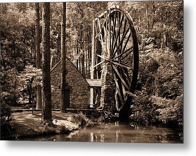 Berry's Old Mill In Sepia Metal Print by Johann Todesengel
