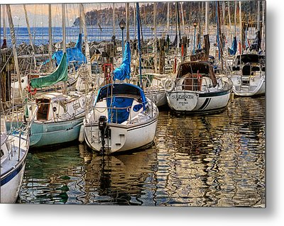 Berthed Metal Print