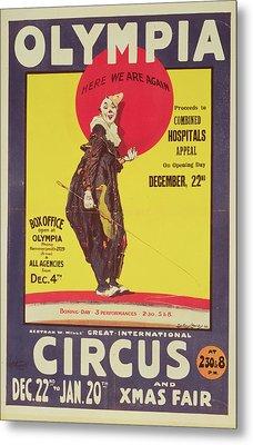 Bertram Mills Circus Poster Metal Print by Dudley Hardy