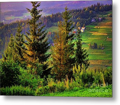 Metal Print featuring the photograph Beskidy Mountains by Mariola Bitner