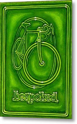 Bespoked In Lime  Metal Print