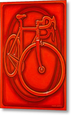 Bespoked In Orange  Metal Print
