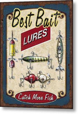 Best Bait Lures Metal Print by JQ Licensing