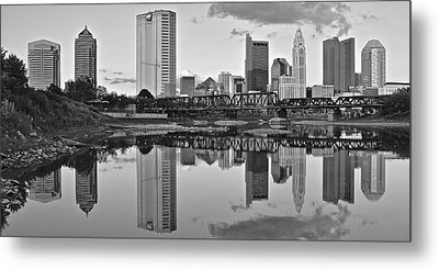 Metal Print featuring the photograph Best Columbus Black And White by Frozen in Time Fine Art Photography
