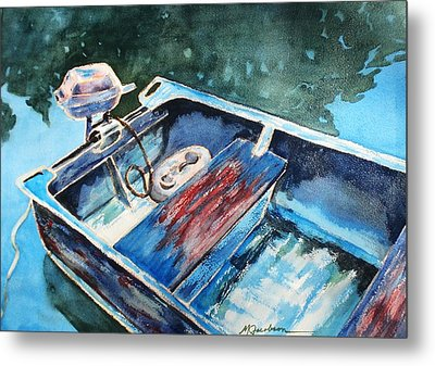Metal Print featuring the painting Best Fishing Buddy by Marilyn Jacobson