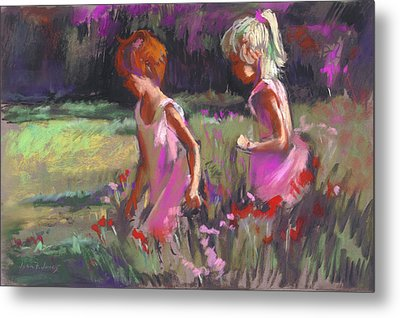 Best Friends Metal Print by Joan  Jones
