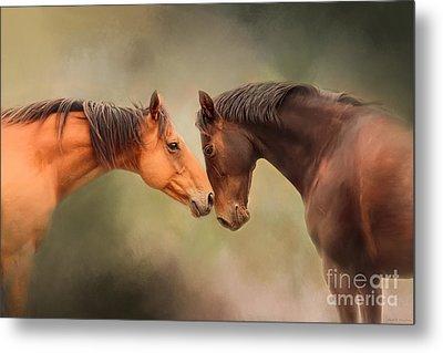 Best Friends - Two Horses Metal Print