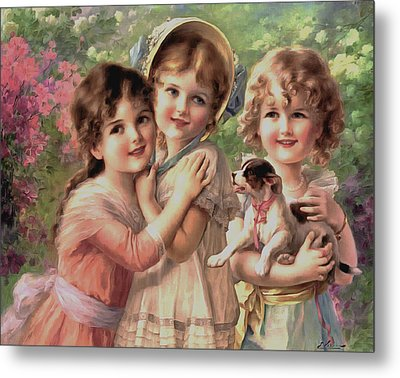 Best Of Friends Metal Print by Emile Vernon