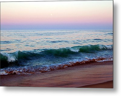 Bethany Pink Sunset Metal Print by Cara Moulds