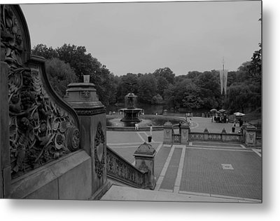 Bethesda Fountain Steps Metal Print