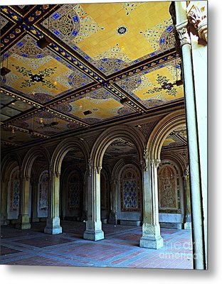 Bethesda Terrace Arcade In Central Park Metal Print by James Aiken