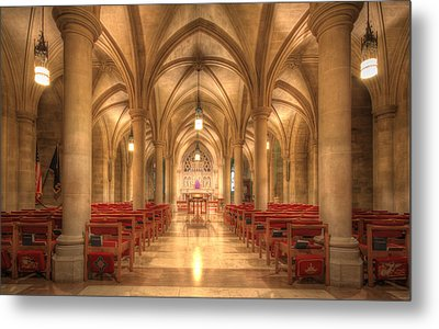 Bethlehem Chapel Washington National Cathedral Metal Print by Shelley Neff