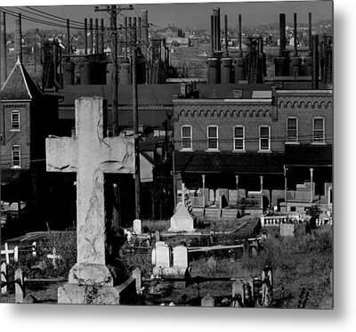 Bethlehem Graveyard And Steel Mill Metal Print by Everett