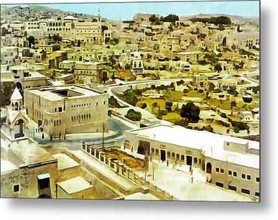 Bethlehem In 1960 Metal Print by Munir Alawi