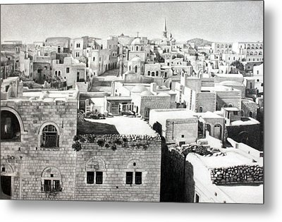 Bethlehem Old Town Metal Print by Munir Alawi