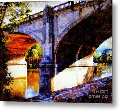 Metal Print featuring the photograph Bethlehem Pa Bridge - Tunnel Vision by Janine Riley