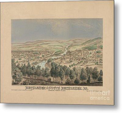 Bethlehem Pennsylvania Birdseye Print Metal Print
