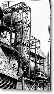 Bethlehem Steel - Black And White Industrial Metal Print by Bill Cannon