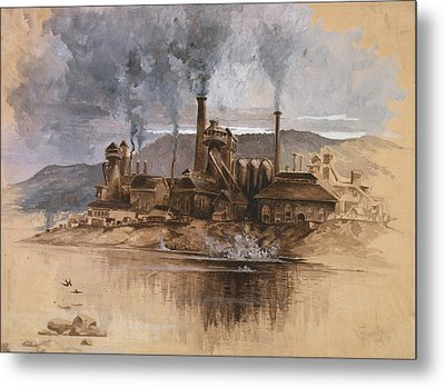 Bethlehem Steel Works In May 1881 Metal Print by Everett