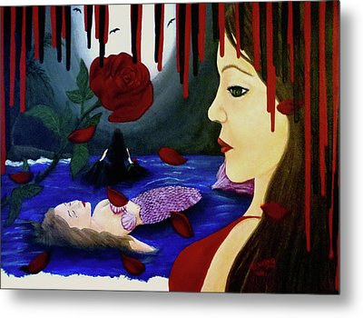 Metal Print featuring the painting Betrayal by Teresa Wing