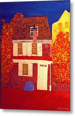 Betsy Ross's House Metal Print