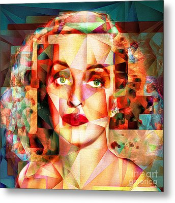 Metal Print featuring the photograph Bette Davis What Ever Happened To Baby Jane 20170418 Square by Wingsdomain Art and Photography