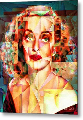 Metal Print featuring the photograph Bette Davis What Ever Happened To Baby Jane 20170418 by Wingsdomain Art and Photography