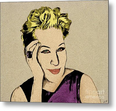 Bette Midler Metal Print