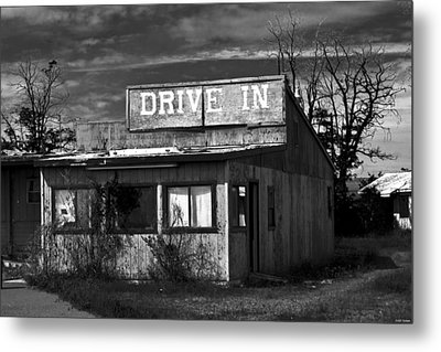 Better Days - An Old Drive-in Metal Print
