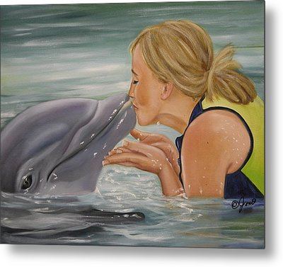 Metal Print featuring the painting Better Than Kissing A Frog by Joni McPherson