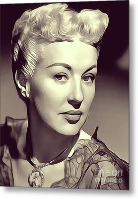 Betty Grable, Actress And Pinup Metal Print